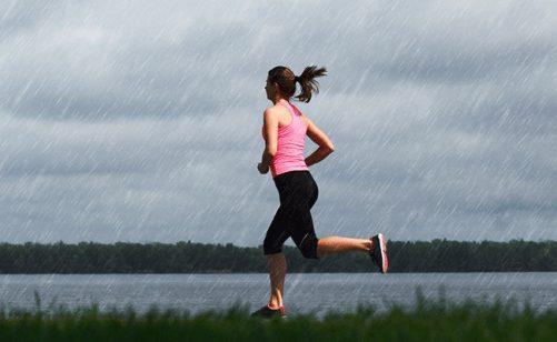Girl Runner Rain